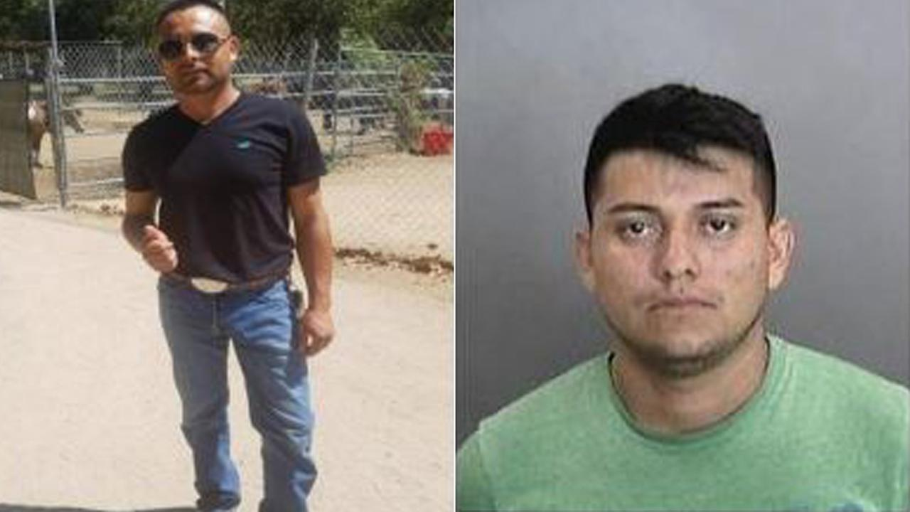 Humberto Rodriguez-Martinez, left, is being sought in the stabbing death of his ex-girlfriends new boyfriend. Adan Zapot-Leyva has been arrested in the case.