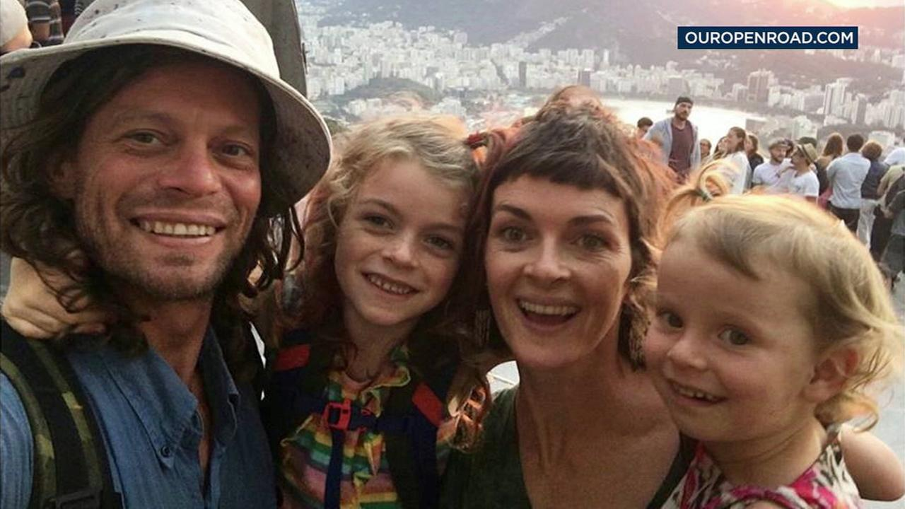 A California couple and their two daughters who had been missing for days after pirates attacked their boat in the Amazon River delta area have been found alive.