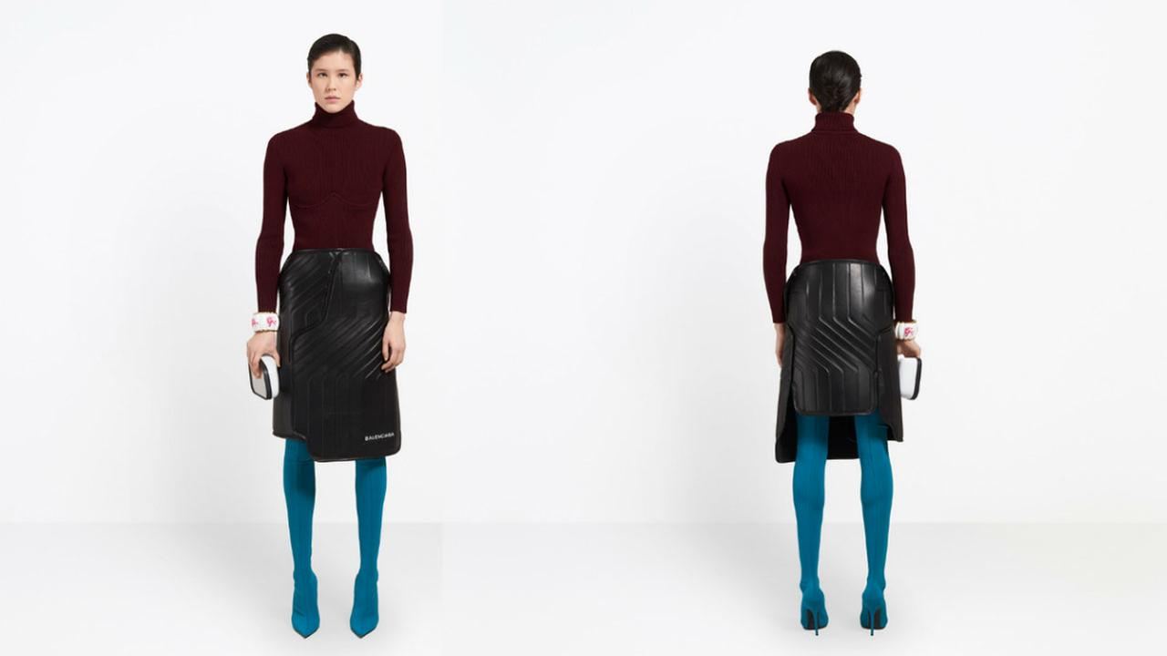 High-end designer Balenciaga mocked for $2,400 skirt that resembles a car mat