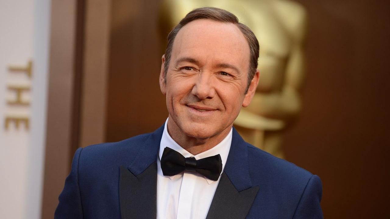 Kevin Spacey arrives at the Oscars on Sunday