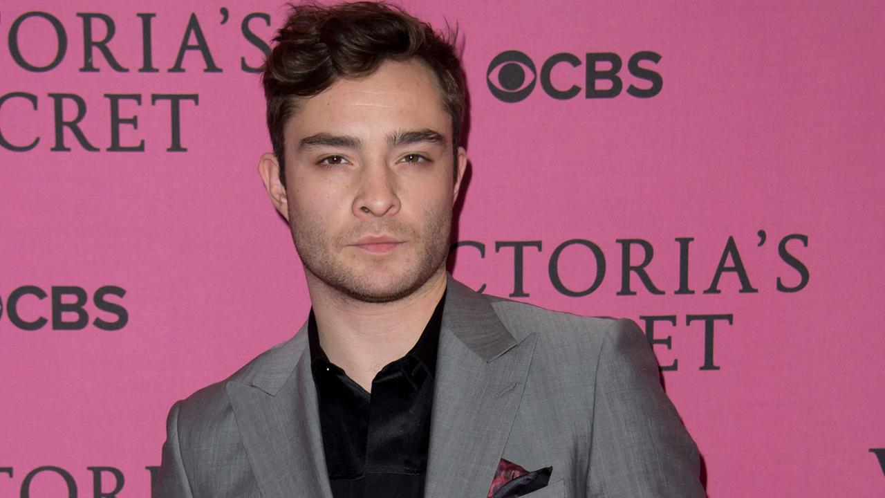 Ed Westwick poses for photographers upon arrival at the Victorias Secret fashion show in London, Tuesday, Dec. 2, 2014.