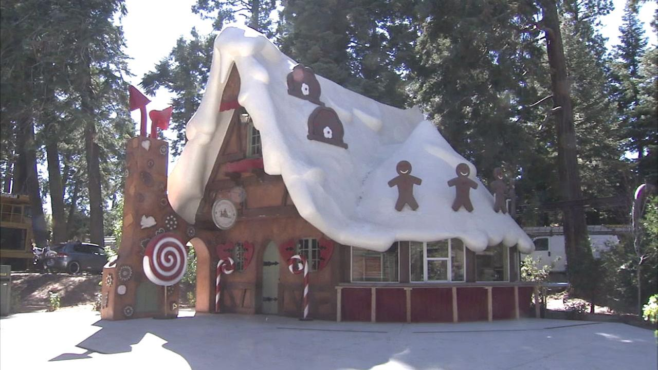 A gingerbread house at SkyPark at Santas Village is shown in a file photo.