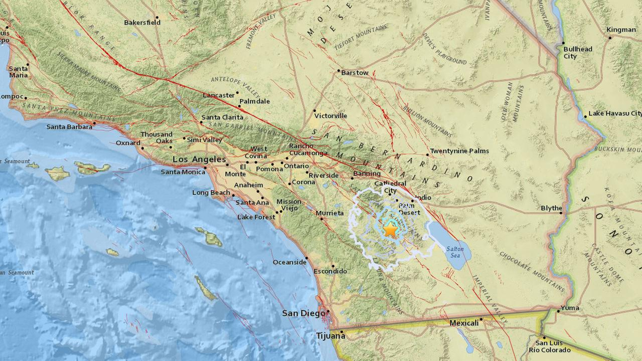 A 3.5-magnitude earthquake struck near Anza on Thursday, Nov. 9, 2017, according to the U.S. Geological Survey.