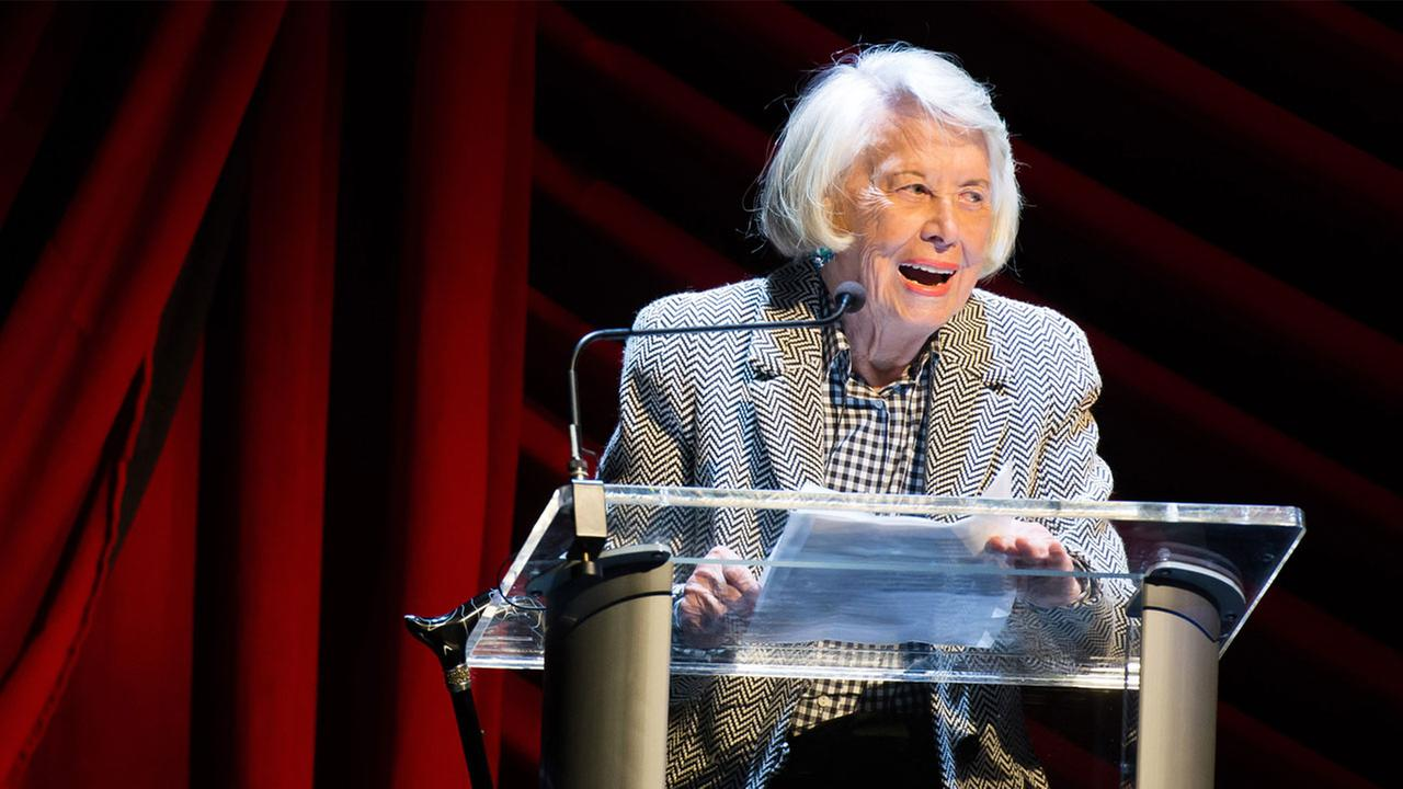 Liz Smith appears on stage at Everybody, Rise! A Celebration of Elaine Stritch on Monday, Nov. 17, 2014 in New York.
