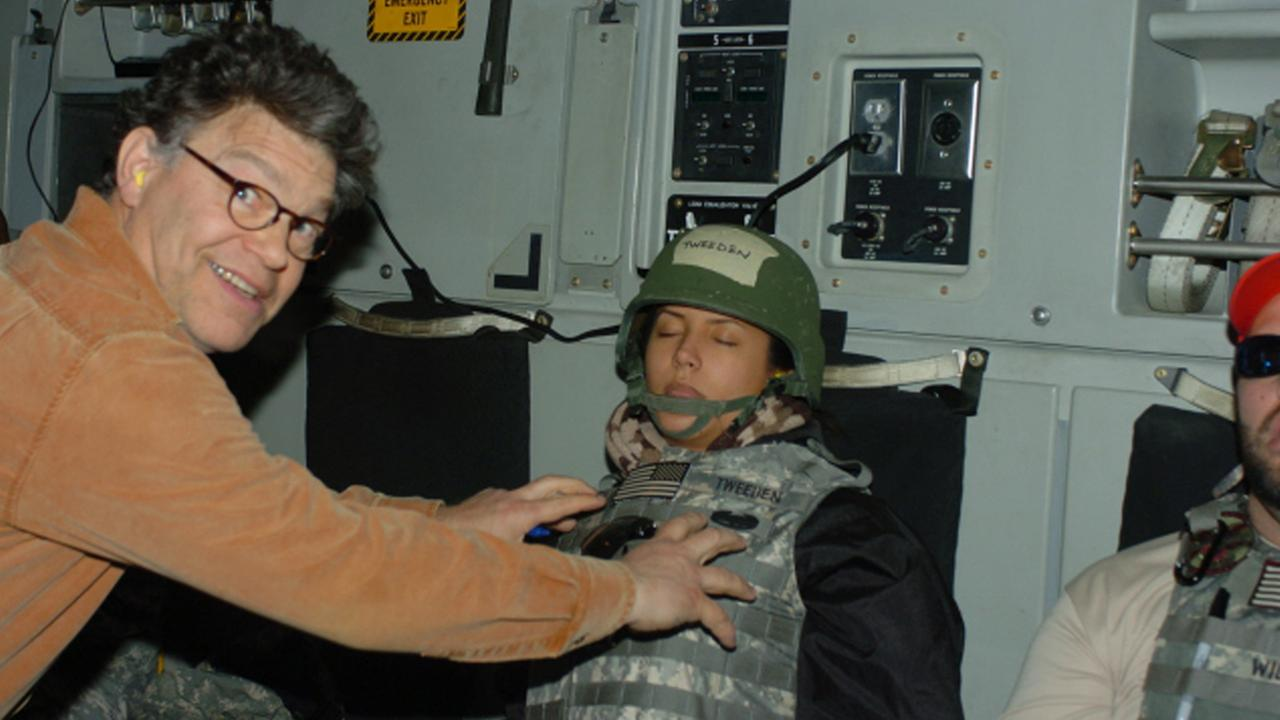 Los Angeles radio anchor Leeann Tweeden accused Sen. Al Franken of forcibly kissing her during a 2006 USO tour and of posing for a photo with his hands on her breasts as she slept.