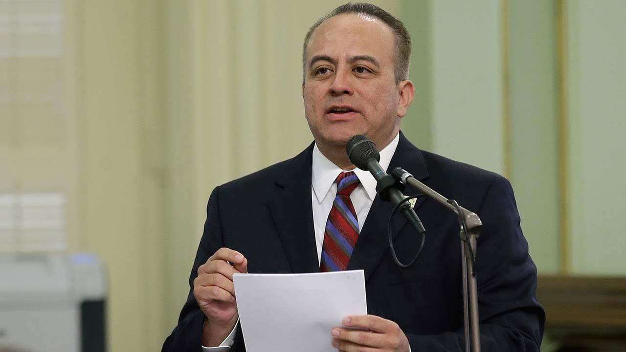 Assemblyman Raul Bocanegra, D-Los Angeles, speaks at the Capitol, in Sacramento, California, in this May 2017 file photo.