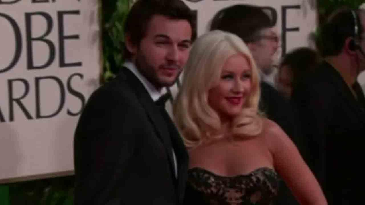 Christina Aguilera and her fiance Matt Rutler are seen in this undated file photo.