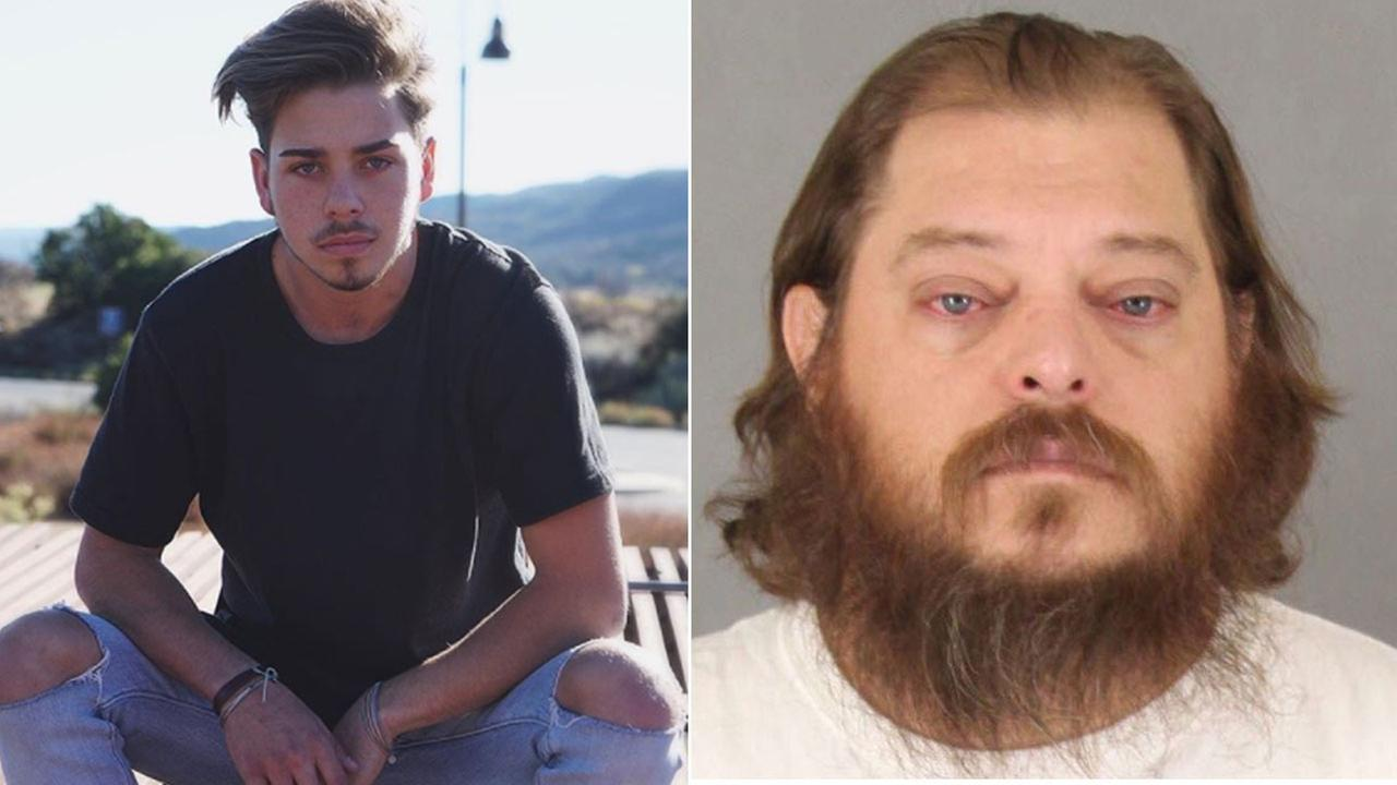 Police say Temecula resident James Fortney (right) is suspected of fatally stabbing local social media star Kevin Rodriguez in the parking lot of a Temecula Walmart Wednesday.