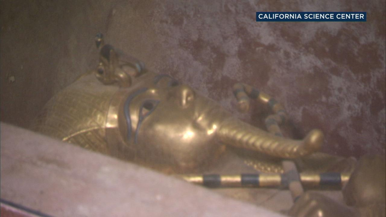 The tomb of King Tut is shown as part of an upcoming exhibit that will be at the California Science Center in March 2018.