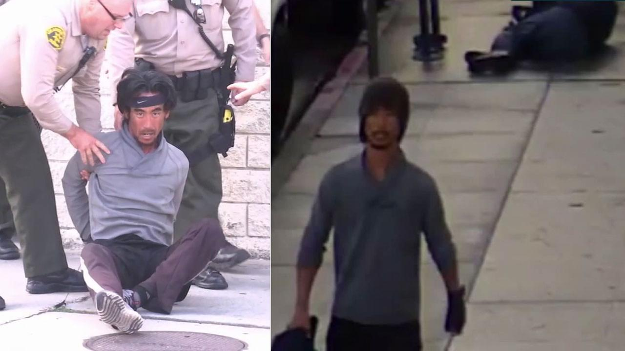 Police search for suspects after armed robbery at LA shopping mall