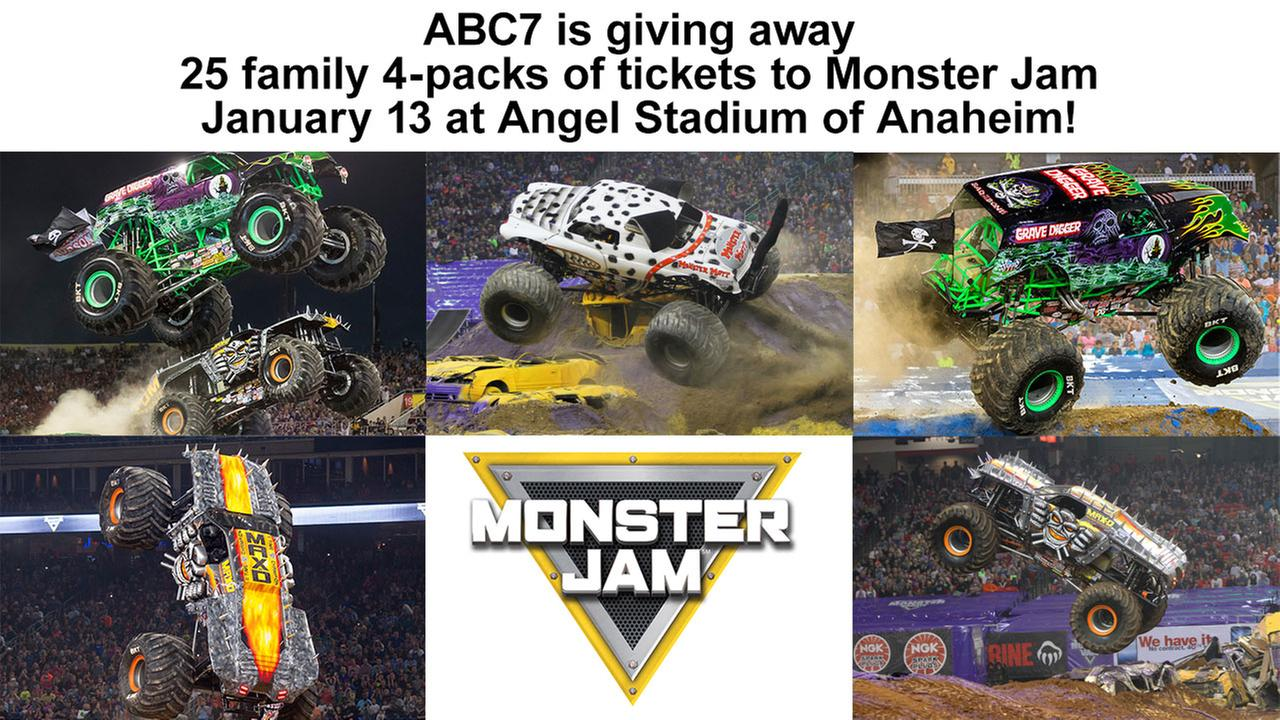 Enter for chance to win tickets to Monster Jam in Anaheim!
