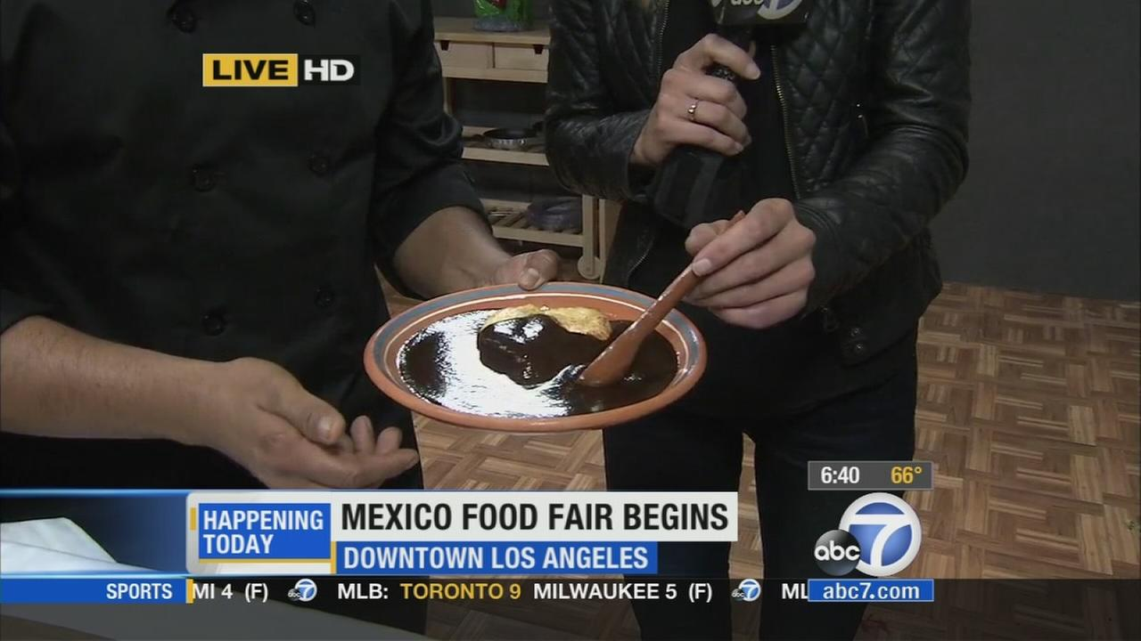 The Mexican Food Fair kicks off in downtown L.A. The event offers tastings, cooking lessons and conferences from award-winning chefs.