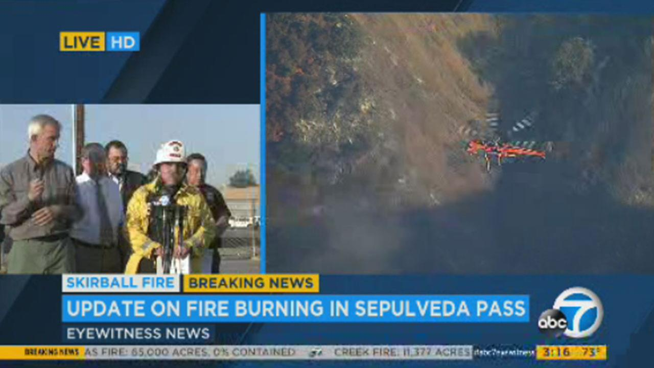 Skirball Fire: List of evacuations, school, road closures