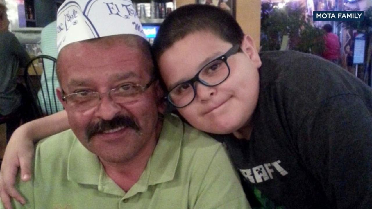 Alex Mota (right) and his family are mourning the loss of his father Ricardo Mota, killed in a carjacking near MacArthur Park.