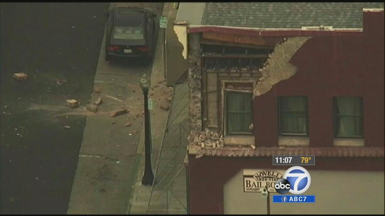 Damage from the 6.0-magnitude earthquake is seen in Napa.