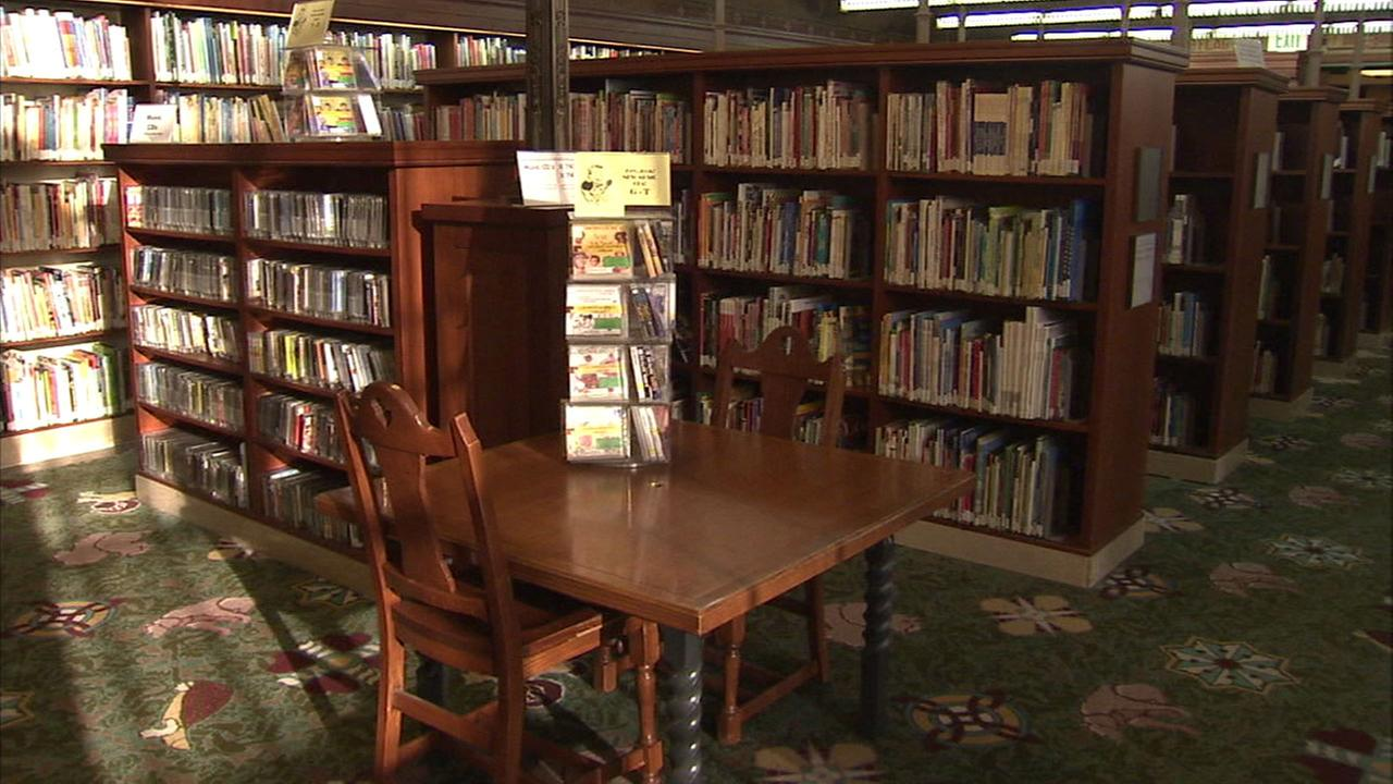 The inside of a library is shown in a file photo.