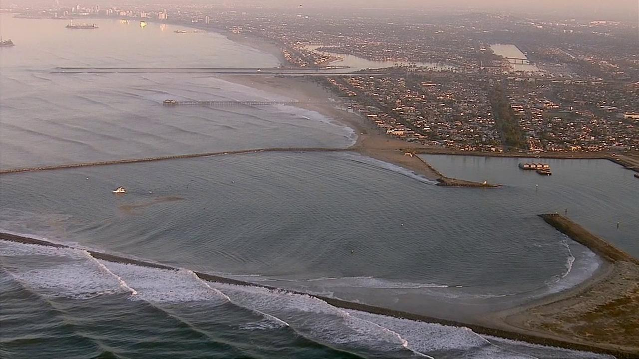 Waves are seen along the coast of Seal Beach on Wednesday, Aug. 27, 2014.