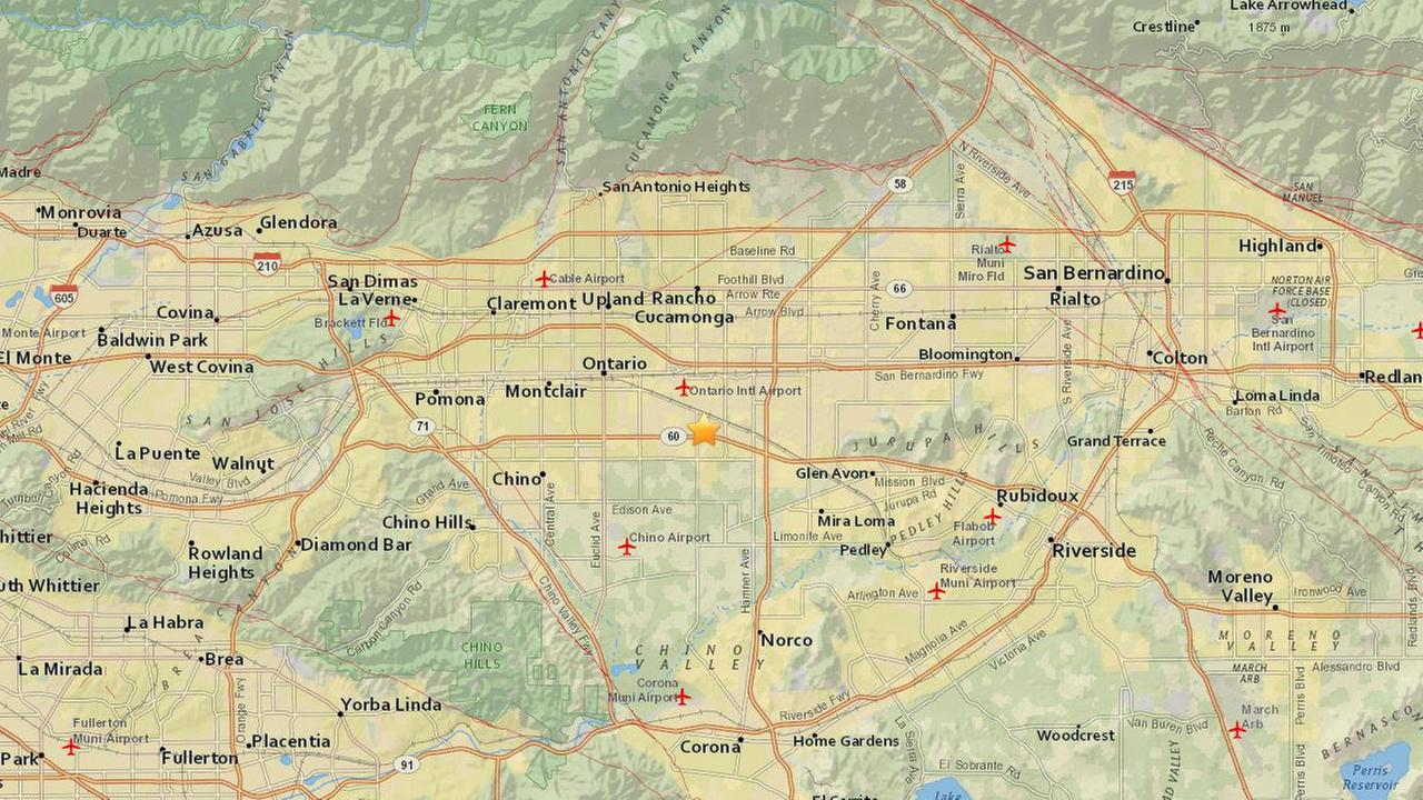 A preliminary-magnitude 3.1 earthquake rattled southwest San Bernardino County on Sunday, Dec. 31, 2017, as revelers were preparing to ring in the new year.