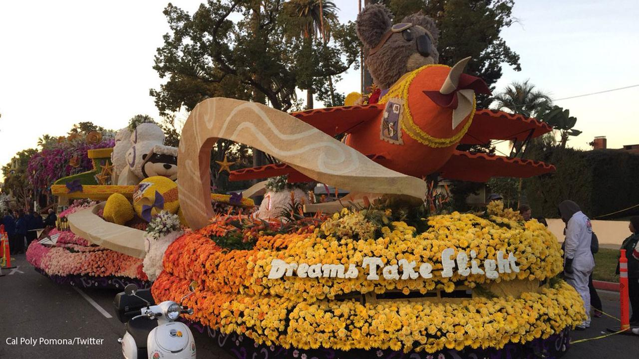 The Cal Poly Universities float won the Past President Award at the 129th Rose Parade in Pasadena, Calif., Monday, Jan. 1, 2018.