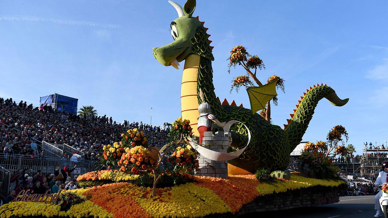 The Sierra Madre float won the Fantasy Award at the 129th Rose Parade in Pasadena, Calif., Monday, Jan. 1, 2018.AP Photo/Michael Owen Baker