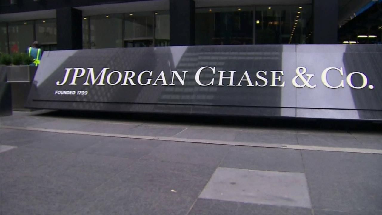 A sign for JPMorgan Chase is seen in this undated file photo.