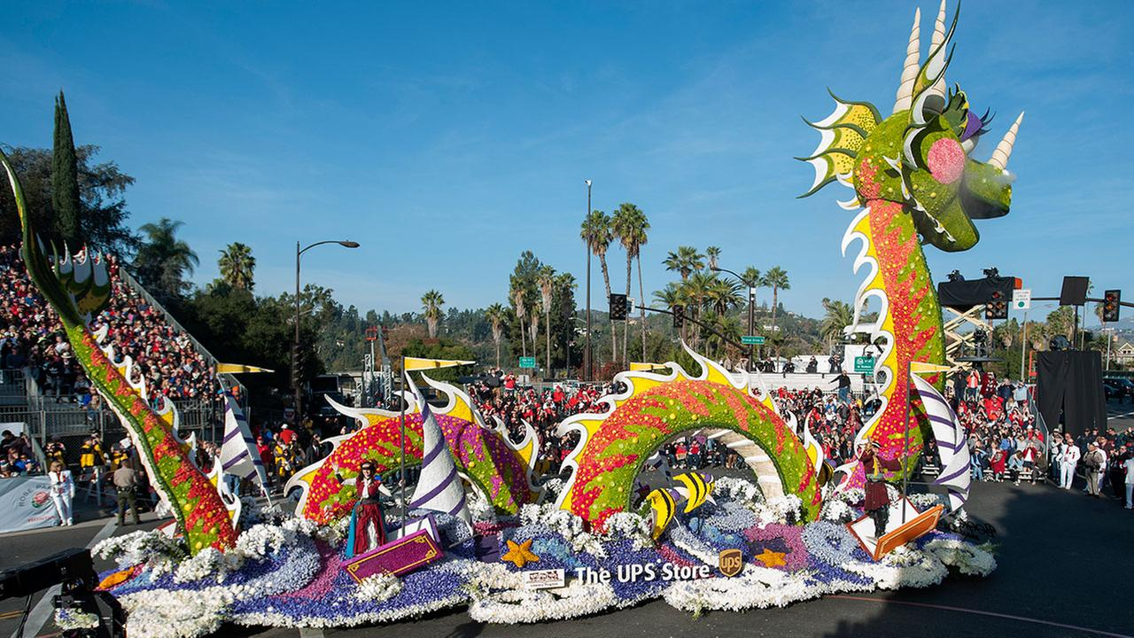 The UPS Store float is seen at the 129th Tournament of Roses Parade on Monday, Jan. 1, 2018, in Pasadena, Calif. Carlos Delgado/AP Images for UPS