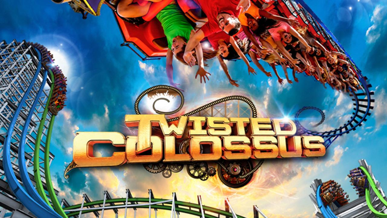 A promotional image for Twisted Colossus, Six Flags Magic Mountains new roller coaster expected to open in 2015.Six Flags Magic Mountain