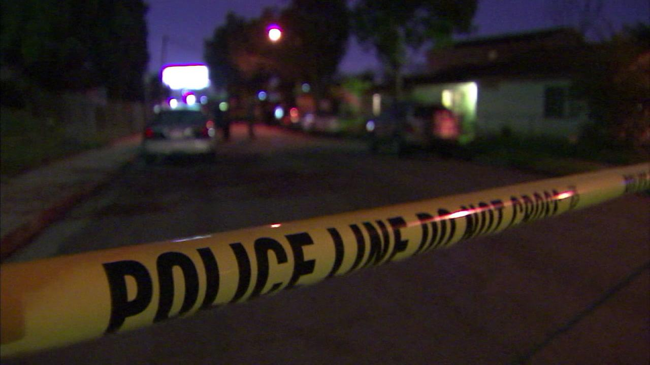 A crime scene in Long Beach is shown in an older file photo.
