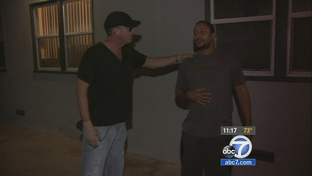 A real-life Robin Hood known for his giving saves a man Thursday night from a burning apartment near Culver City.