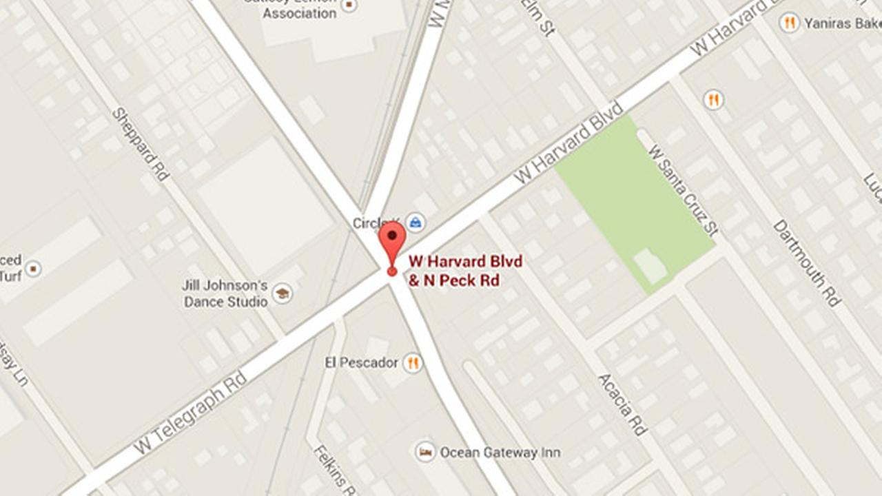 A 36-year-old woman was struck by a hit-and-run driver at Peck Road and Harvard Boulevard in Santa Paula on Thursday, August 28, 2014.