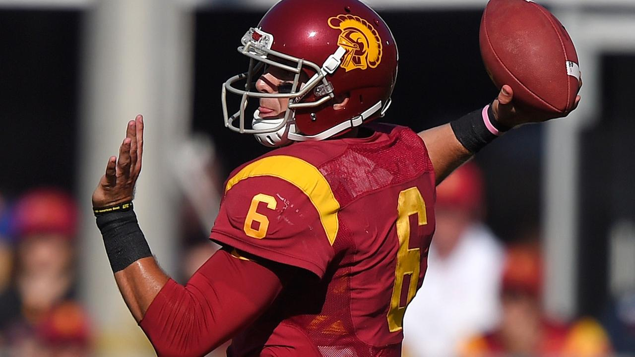 Southern California quarterback Cody Kessler passes during they first half of an NCAA college football game against Fresno State, Saturday, Aug. 30, 2014, in Los Angeles.