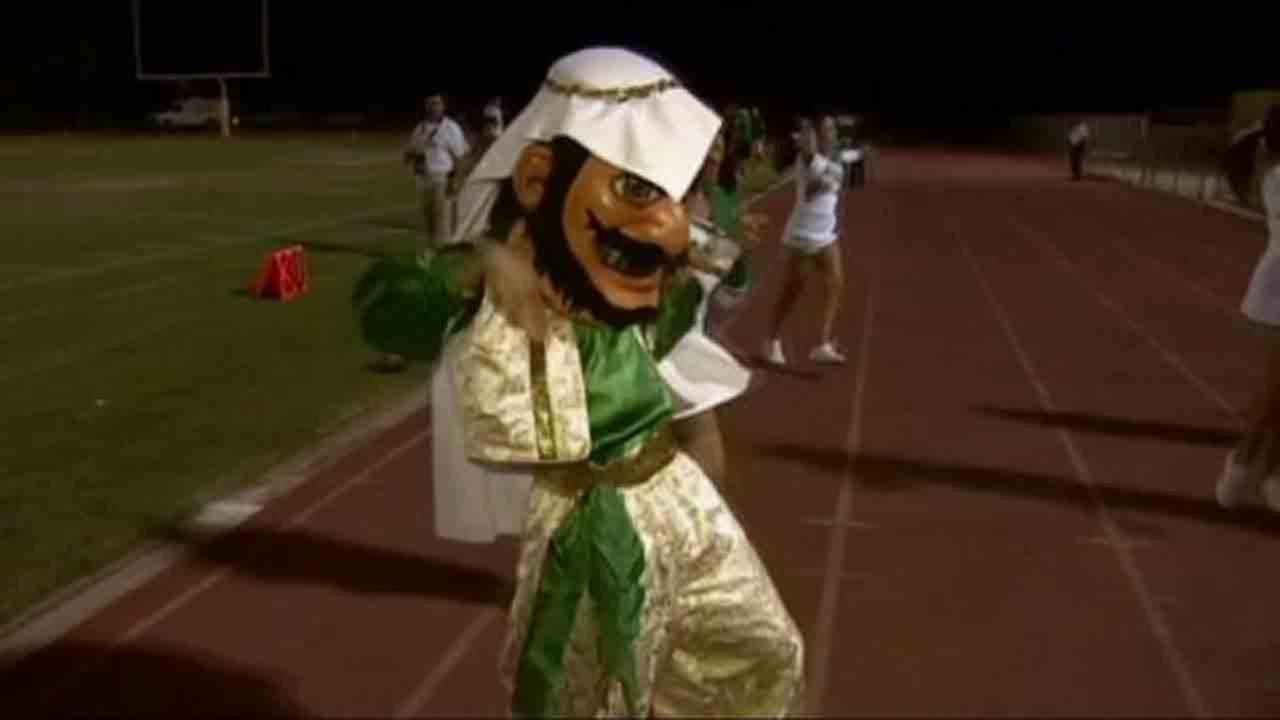 Coachella Valley High Schools former Arab mascot is seen in this undated file photo.