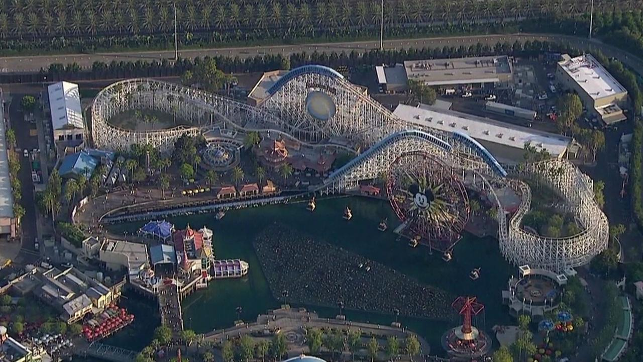 California Screamin and the rest of Paradise Pier is shown in aerial footage captured by AIR7 HD.