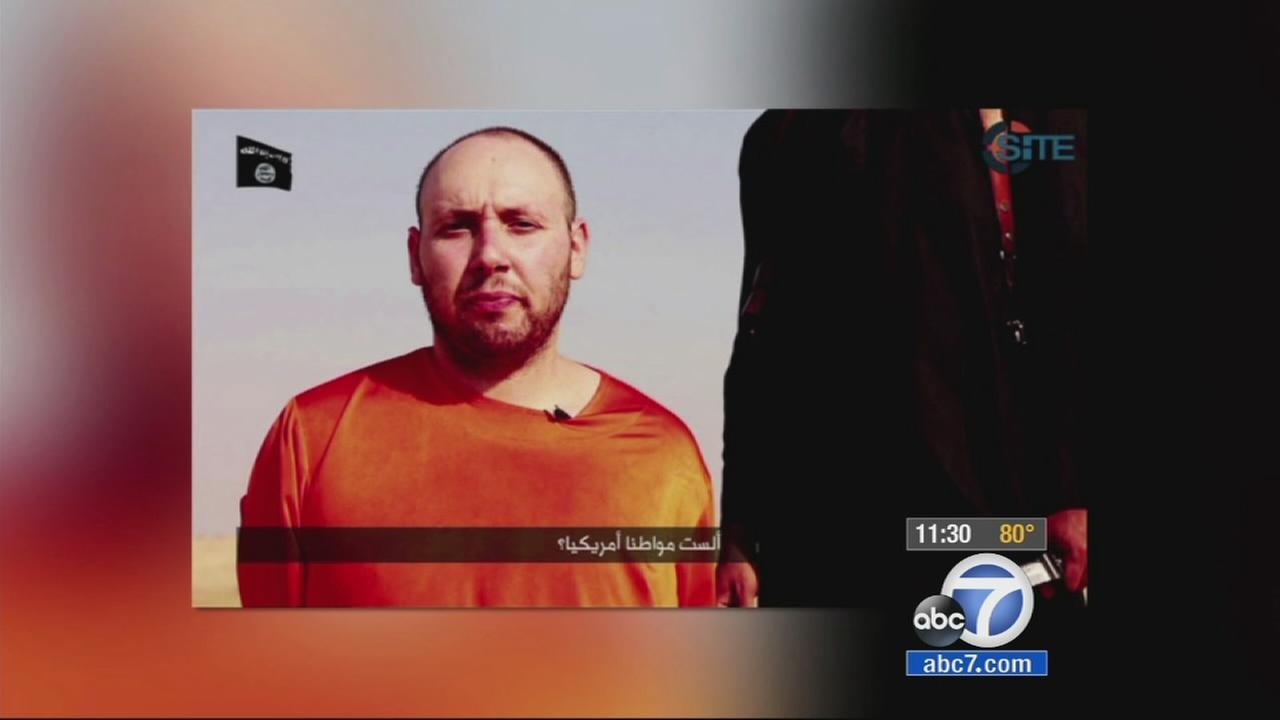 American journalist Steven Sotloff is seen in this video posted online on Tuesday, Sept. 2, 2014.