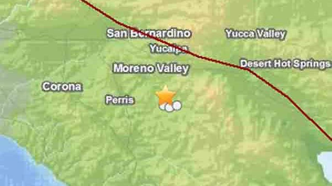 A 3.7-magnitude earthquake struck 4 miles north of Hemet at 7:38 p.m. on Tuesday, Sept. 2, 2014, according to a preliminary report.