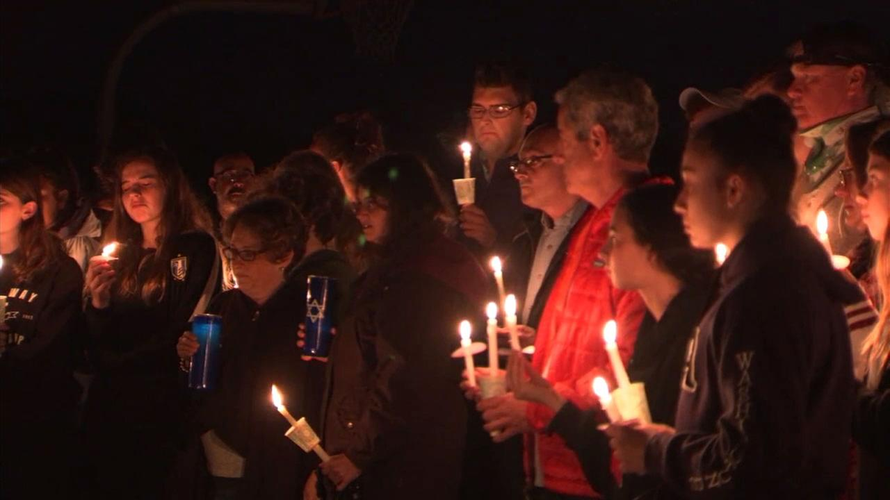 A candlelight vigil was held Wednesday to honor the memory of Blaze Bernstein, the 19-year-old student whose body was found in a Lake Forest park.