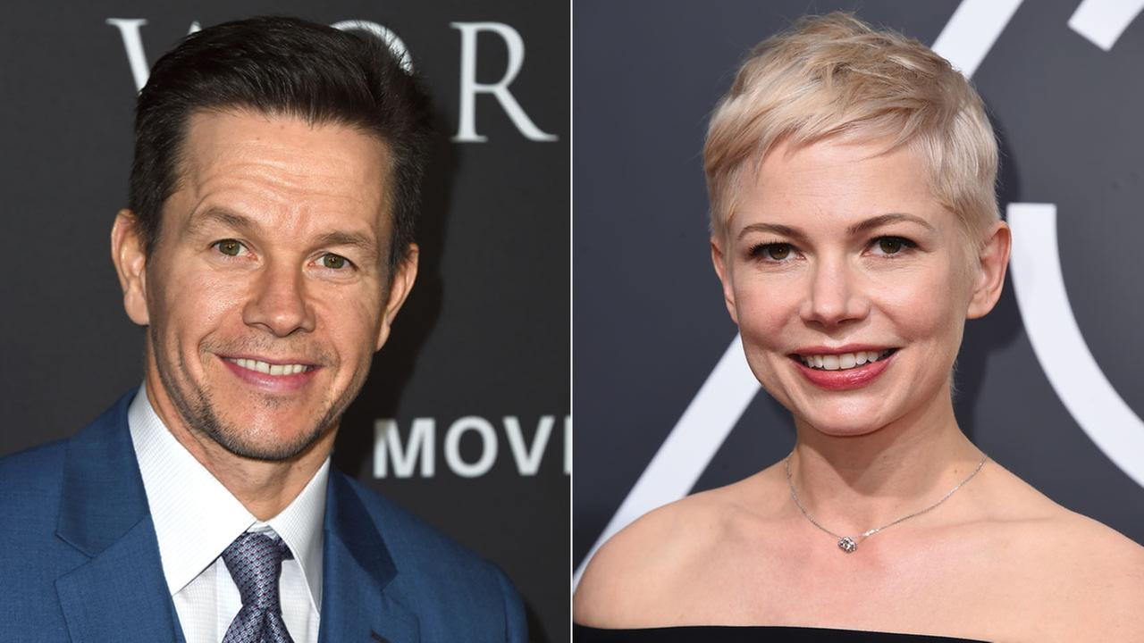 Mark Wahlberg and Michelle Williams are shown in file photos.