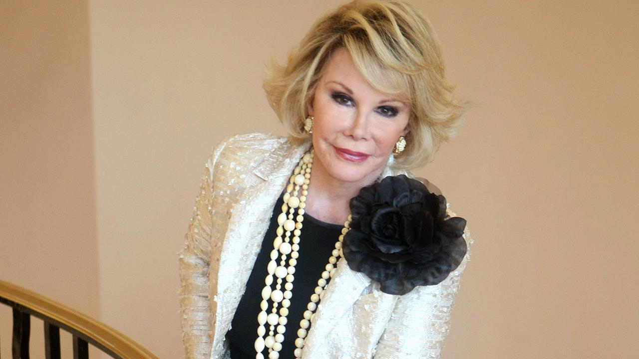 This Oct. 5, 2009 file photo shows Joan Rivers posing as she presents Comedy Roast with Joan Rivers during the 25th MIPCOM in Cannes.