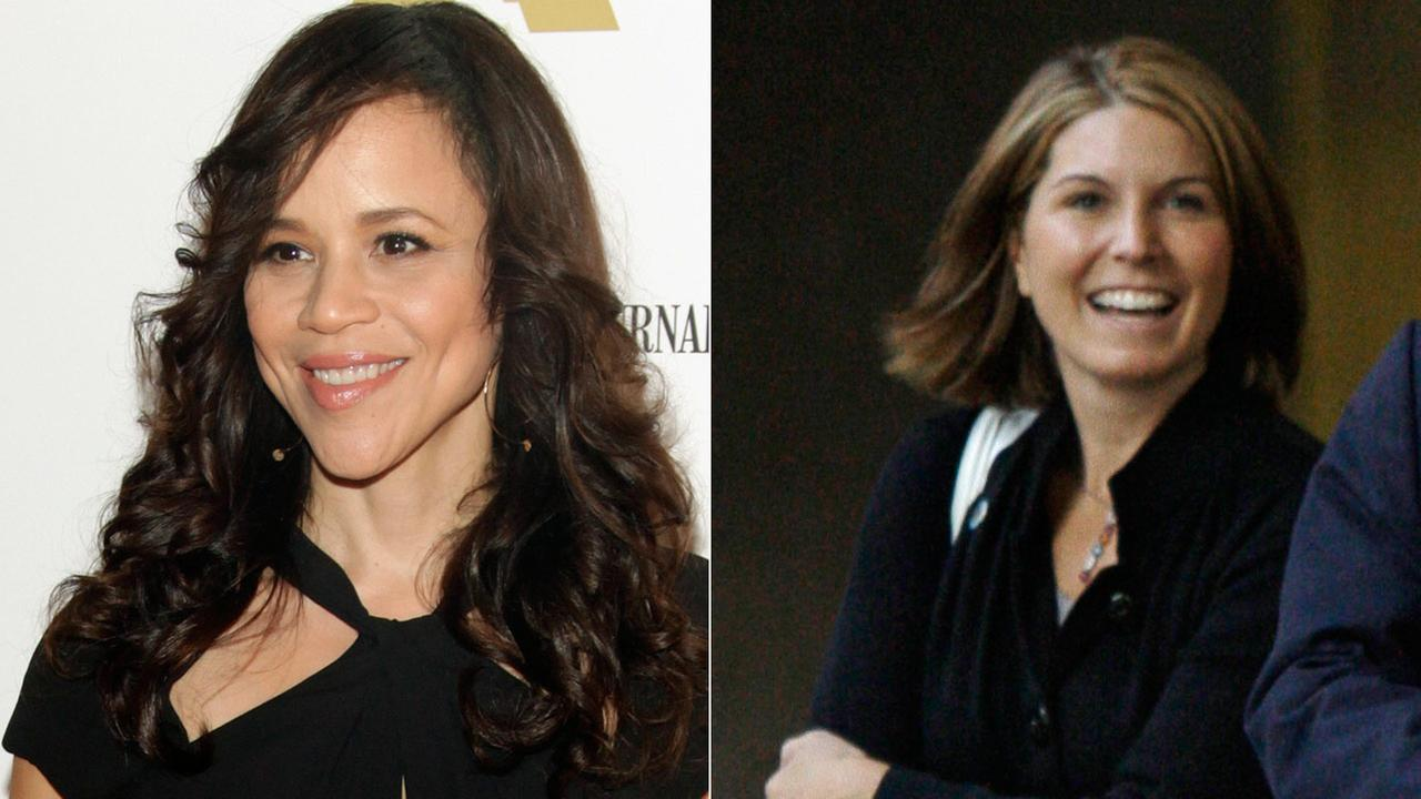 (Left) Rosie Perez at BAMcinemaFest 2014 on Sunday, June 29, 2014, in New York. (Right) Nicolle Wallace at McCain campaign headquarters in Arlington, Va. Saturday, Oct. 18, 2008.