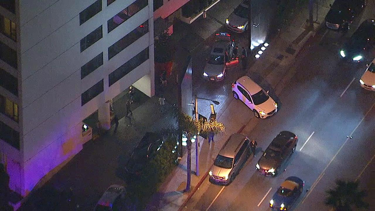 A shooting on the Sunset Strip in West Hollywood on Tuesday night prompted a massive response from law enforcement. No victims were immediately located.