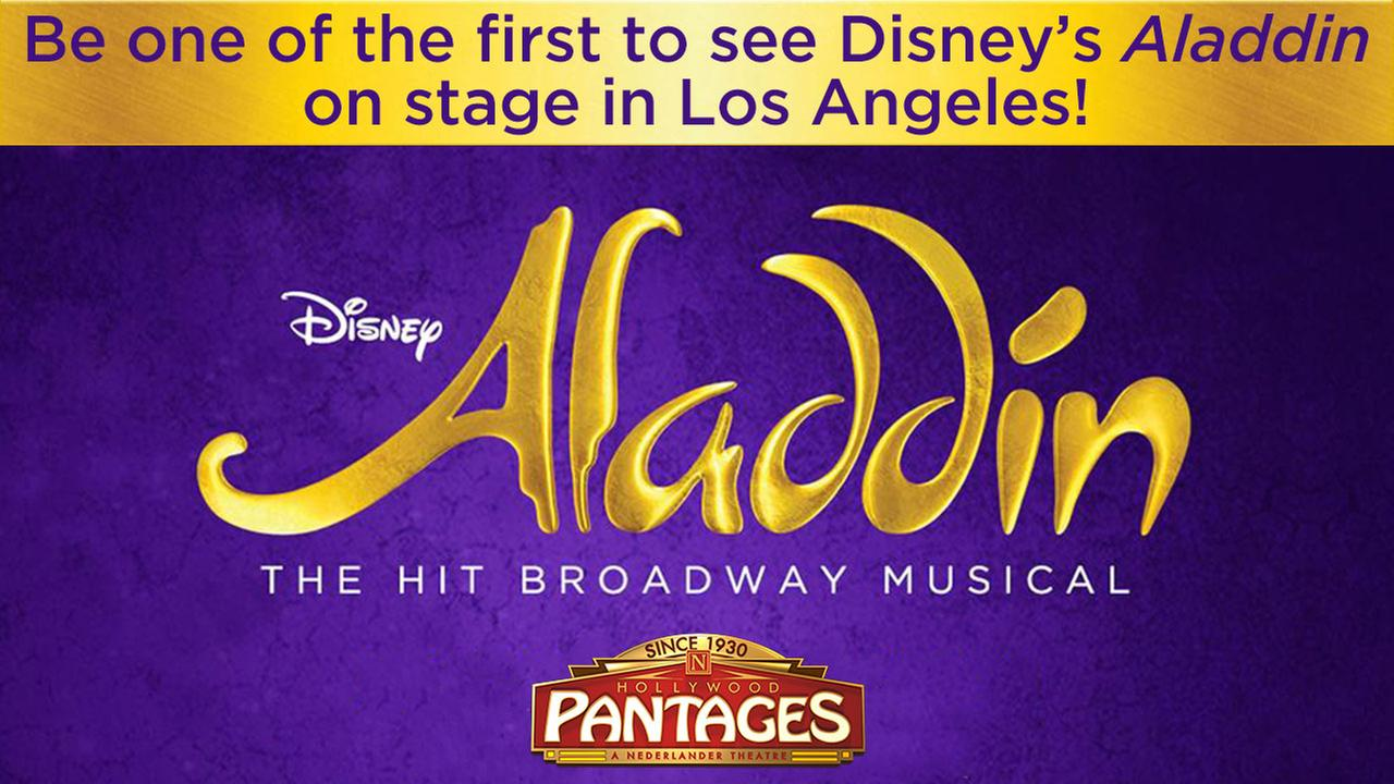 Enter for chance to win tickets to see Disney's ALADDIN at Hollywood Pantages Theatre