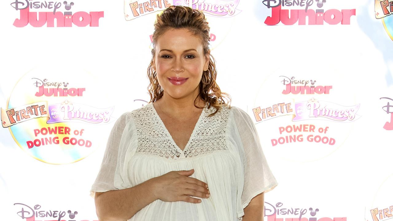 Alyssa Milano attends the Disney Juniors Pirate And Princess: Power Of Doing Good Tour event at Brookside Park on Saturday, Aug. 16, 2104, in Pasadena, Calif.