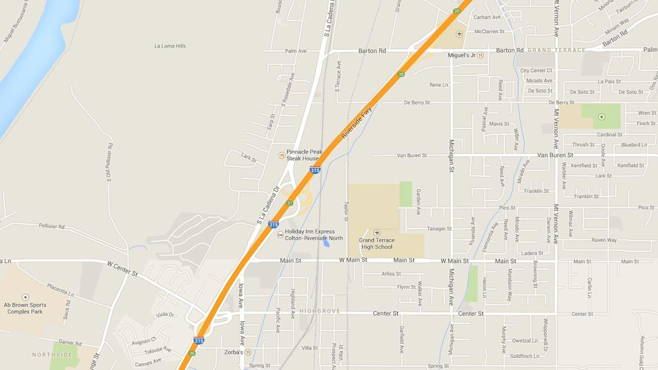 Interstate 215 will be closed between San Bernardino and Riverside counties from 10 p.m. Friday, Sept. 5, 2014, until noon Saturday, Sept. 6, 2014, for work on a railroad bridge.