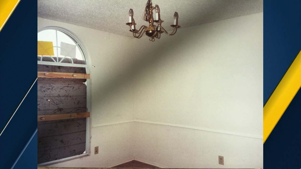 A photo shows the inside of a home in Fort Worth, Texas, where the Turpin family once lived.