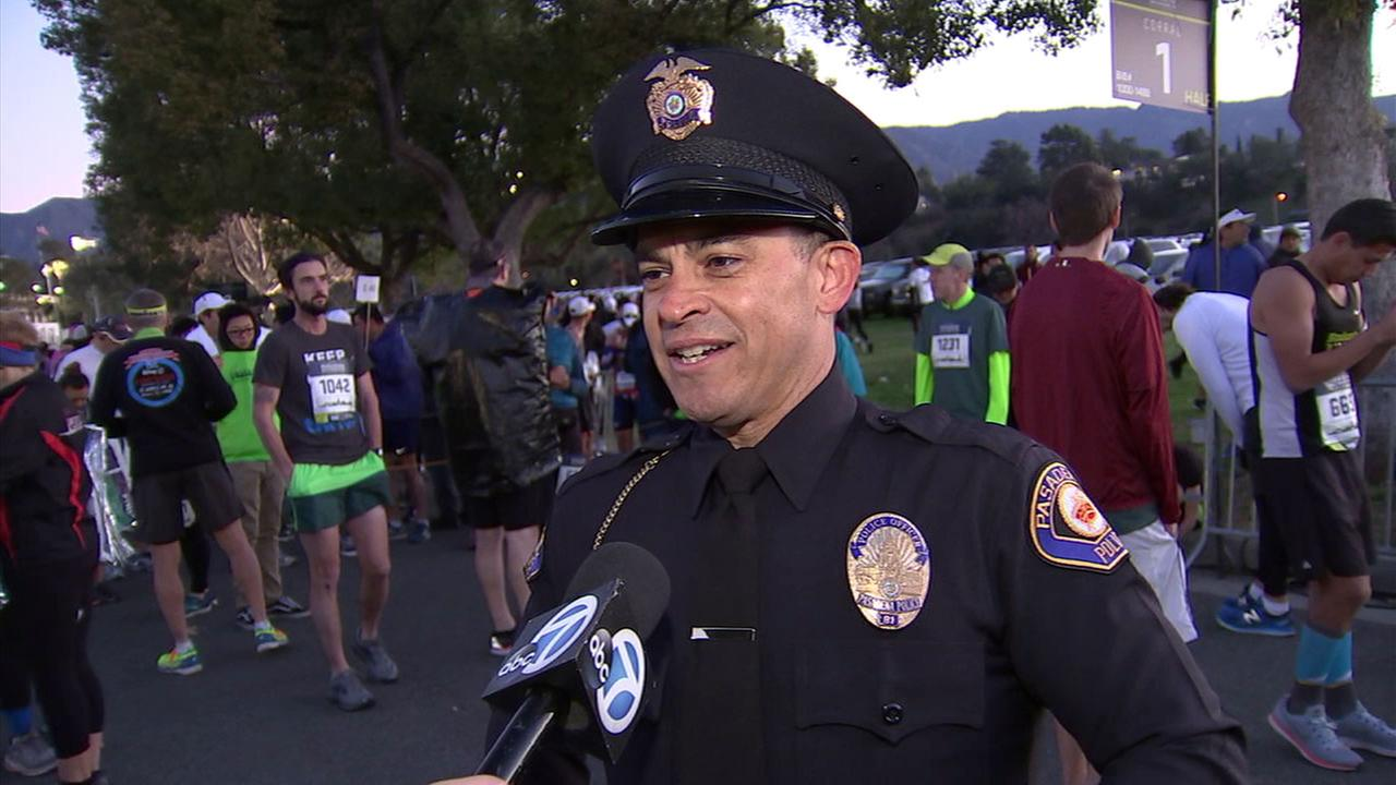 Pasadena PD Officer Donald Sevesind is running toward a Guinness world record for the youngest full-time police officer to complete 100 full marathons and 100 half marathons.