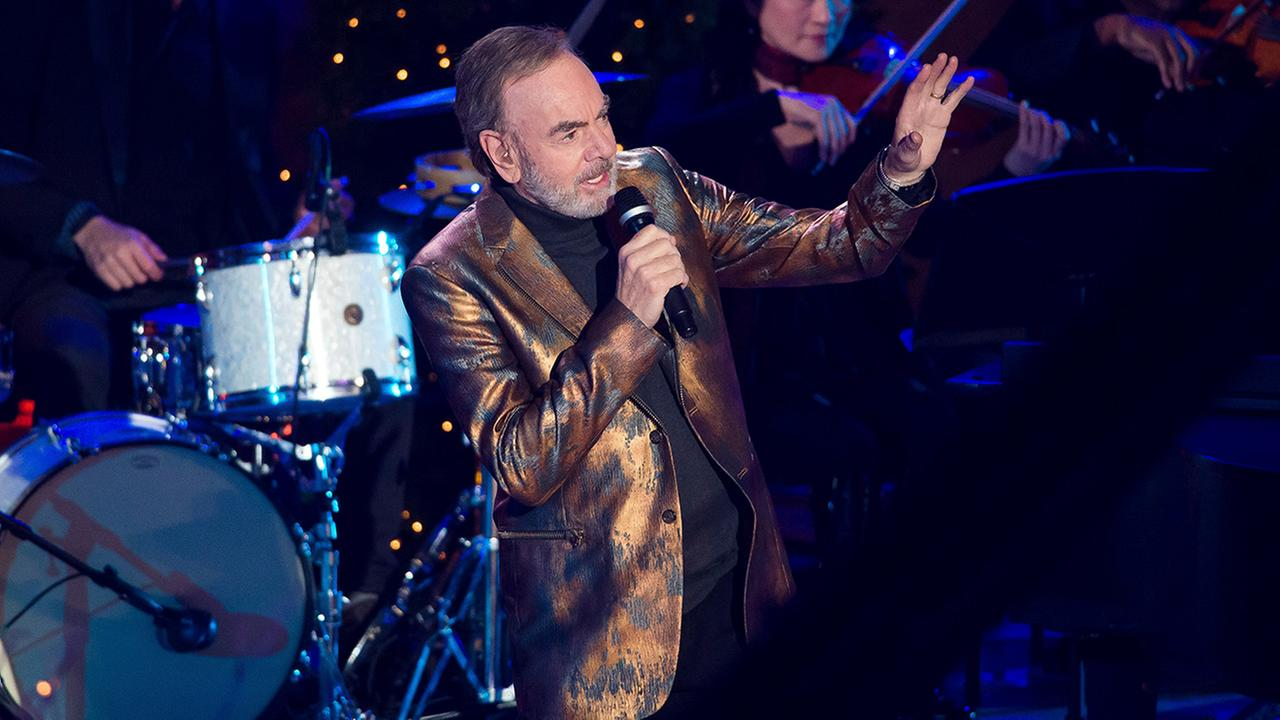 Neil Diamond performs at the 84th Annual Rockefeller Center Christmas Tree lighting ceremony on Wednesday, Nov. 30, 2016, in New York.