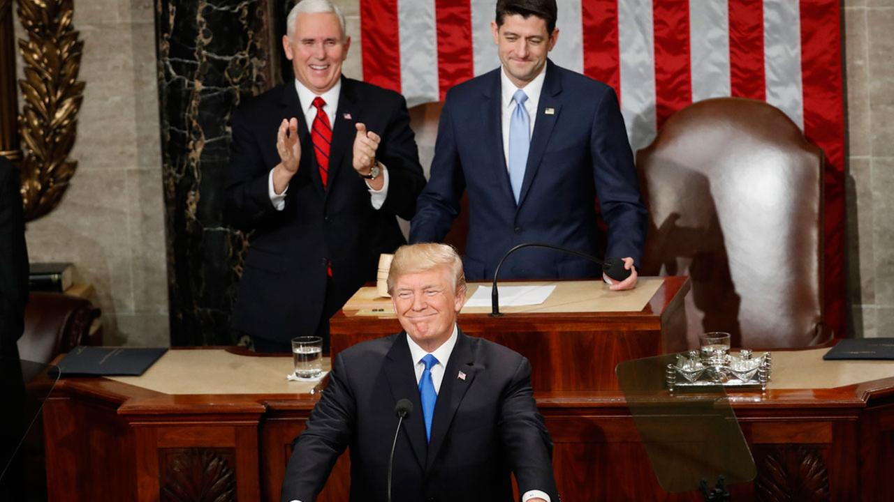 state of union address President trump delivers his first state of the union address, covering several themes, including national security, immigration, opioid addiction.