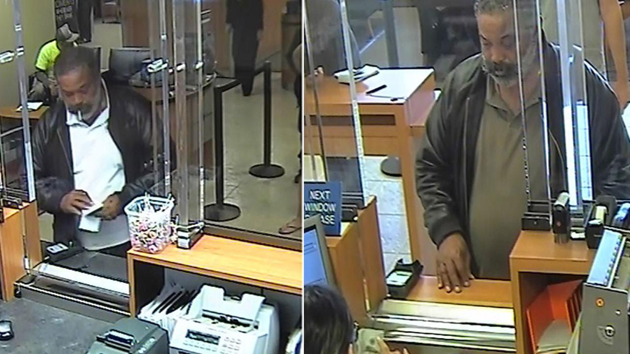 Images from separate surveillance videos at two Chase banks in Los Angeles County show a man Ventura County sheriffs investigators are searching for as an identity theft suspect.