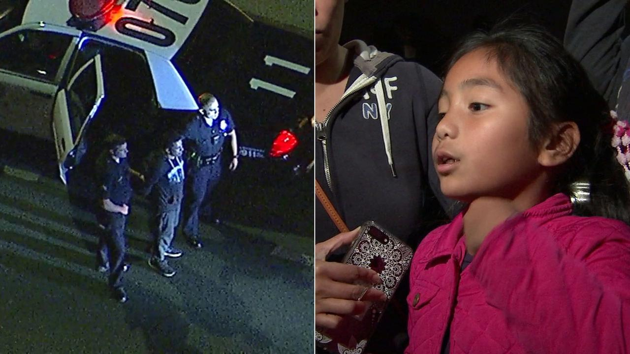 (Left) A man was arrested for allegedly holding a knife to an 8-year-old girl in Echo Park. (Right) The girl recalls the terrifying ordeal.