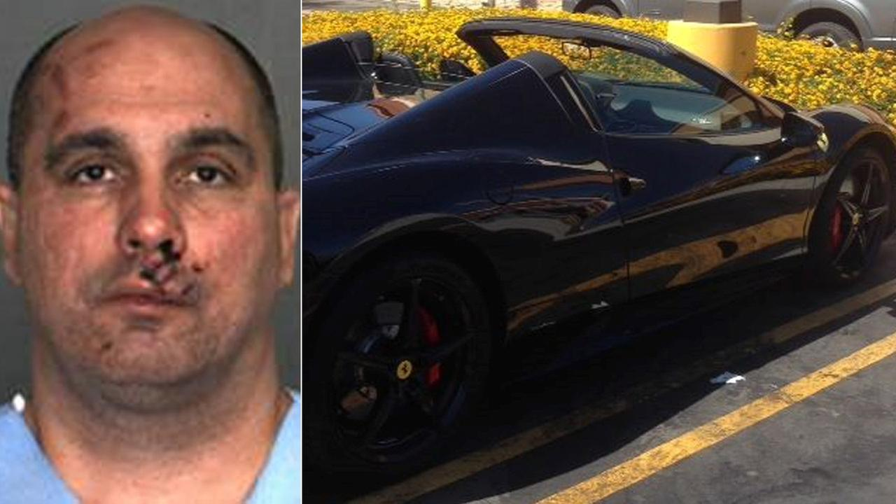 Earnie Steven Hooks, 39, was arrested for possession of a stolen Ferrari on Sept. 4, 2014, Fontana police said.